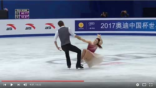 Bobrova and Soloviev free dance at the 2017 Cup of China