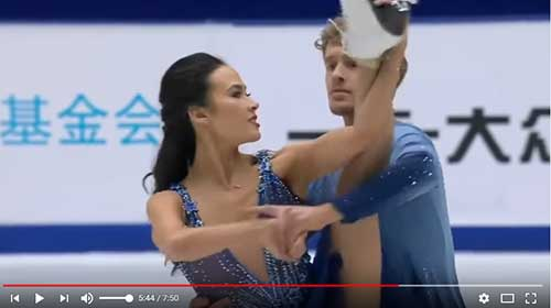 Chock and Bates in the free dance at the 2017 Cup of China