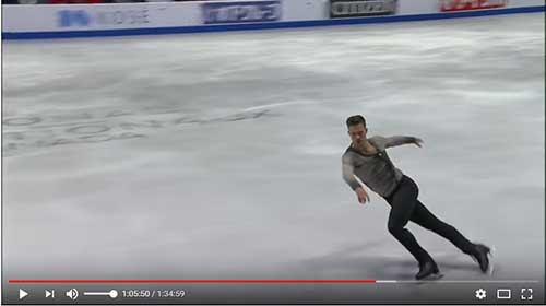 Jorik Hendrickx in the 2017 Skate Canada Men's Short Program