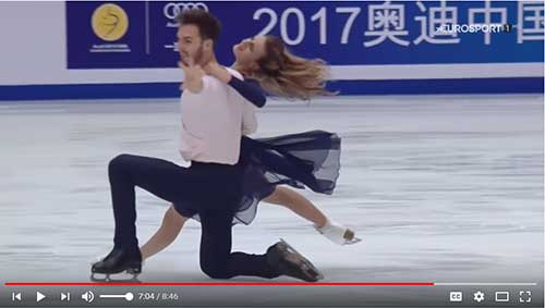 Papadakis and Cizeron free dance at the 2017 Cup of China