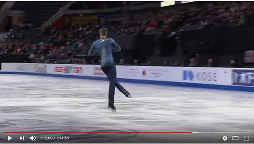 Alexander Samarin in the 2017 Skate Canada Men's Short Program