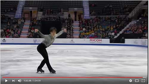 Shoma Uno in the 2017 Skate Canada Men's Short Program