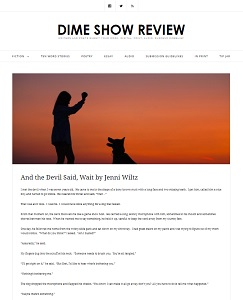 "A screenshot of the story ""And the Devil Said, Wait"" posted on the Dime Show Review website."