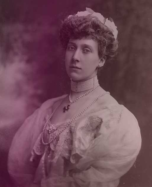 Princess Marie Louise of Schleswig-Holstein, who inherited Princess Helena Victoria's tiara.